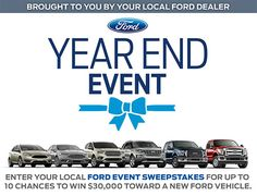 I just entered for a chance to win a new vehicle during the Ford Event Sweepstakes! http://www.fordeventsweepstakes.com/?ref=5382910