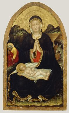 Gentile da Fabriano (Italian, about 1370 - 1427) Nativity, about 1420 - 1422, Tempera and gold leaf on panel 72.4 × 42.6 cm (28 ½ × 16 ¾ in.) The J. Paul Getty Museum, Los Angeles