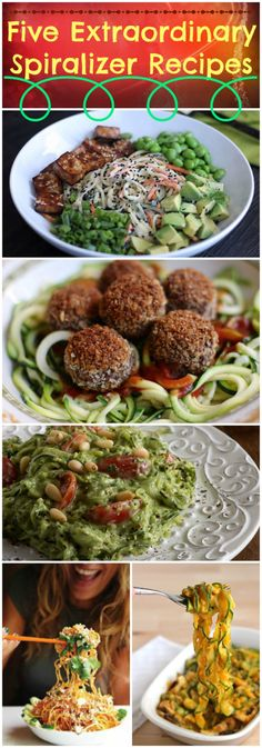 Amazing spiralizer recipes #zoodles!