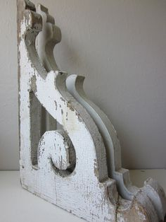 Pair of Antique Corbels by housewarming101 on Etsy, $350.00  This shop has the most wonderful vintage finds.