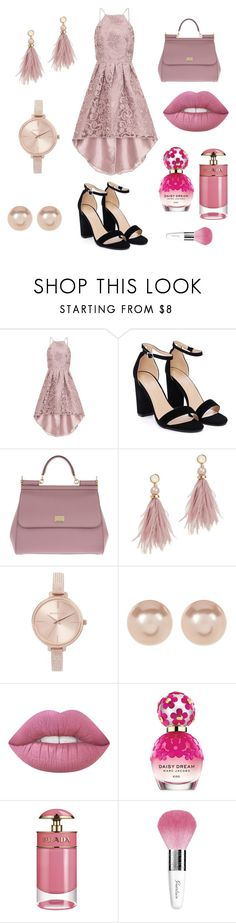 """""""Rose CHI Chi London Look 2.0 💋"""" by sarah-ochmann ❤ liked on Polyvore featuring Chi Chi, Nasty Gal, Dolce&Gabbana, Lizzie Fortunato, Michael Kors, Nordstrom Rack, Marc Jacobs, Prada and Guerlain"""