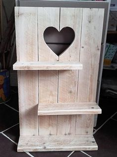 Shelf is good to create when there is not much space in a room to make it look amazing with the decorative items placed. This heart sign shelf idea is not only great because it allows space to place the items, but it will look awesome itself because of its innovative heart shaped design.