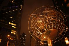 The Globe in front of Trump Tower. Columbus Circle. Upper West Side