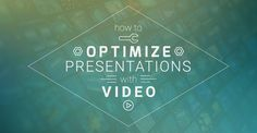Optimize your sales presentation or even your class presentation by using videos! Here's how you can do it and a few tools you can use! #PresentationTips #Presentations