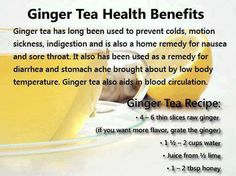Ginger root is known for its medicinal properties and it is used in many traditional medicines. You can drink plain or use desired sweetener like coconut nectar, agave nectar, stevia, Grade B Maple Syrup, Date Syrup/sugar or honey.   #holistic #wellness #health #ginger #tea #holisticheights  www.holisticheights.com
