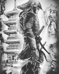 Samurai Tattoo Designs: A History Of War And Honor Japanese Tattoo Art, Japanese Dragon Tattoos, Japanese Tattoo Designs, Japanese Sleeve Tattoos, Japanese Tattoo Samurai, Japanese Temple Tattoo, Samurai Tattoo Sleeve, Samurai Warrior Tattoo, Warrior Tattoos