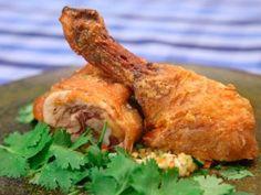 Muslo de pollo crocante