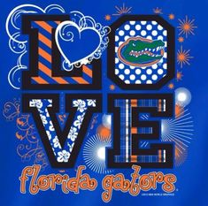 - Officially Licensed - Florida Love Tshirt - Unisex Tshirt - Go Gators! Florida Gator Memes, Florida Gators Softball, Florida Gators Logo, Football Crafts, Football Memes, Gator Football, College Football, Florida Gators Wallpaper, Fla Gators