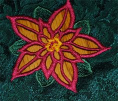 Poinsettia embroidery designs and machine embroidery designs