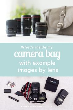 What's inside a photographers camera bag, also includes sample images by various lenses.