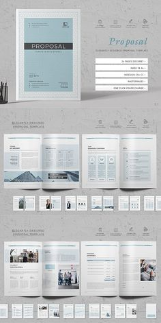 Want to send a business proposal or project proposal to prospective client? This 24 page Professional Business Proposal Template is the best suitable choice to Business Proposal Template, Proposal Templates, Portfolio Design, Brochure Layout, Brochure Template, Page Layout Design, Design Design, Company Profile Design, Booklet Design