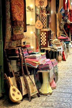 Musical Instruments and Rugs - Morocco