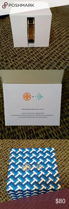Tory Burch Fit Bit Bracelet New never worn. Still in box. Great condition. Comes as is. May be worn as a bracelet or with the fitbit. The band is leather. Tory Burch Jewelry Bracelets