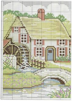 ru / Photo # 3 - Mill - irisha-ira---PG 2 OF Funny Cross Stitch Patterns, Cross Stitch Charts, Cross Stitch Designs, Cross Stitching, Cross Stitch Embroidery, Cross Stitch Numbers, Cross Stitch House, Cross Stitch Landscape, Cross Stitch Pictures