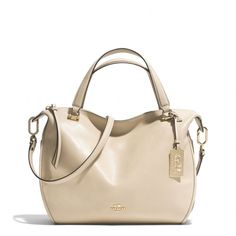 The Madison Smythe Satchel In Leather from Coach. (My new Coach bag I bought in New York City)