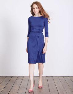 28c04a6ea3 Boden Blue Lottie Ruched Jersey Dress Size UK 8 LF172 RR 09  fashion   clothing