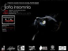 """Cresta Metálica Producciones » EL PUTO BAR PRESENTA: """" FIESTA DARK CON SOFIA INSOMNIA"""" (CARACAS) // 25-05-2013"""