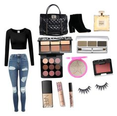"""""""Untitled #1"""" by michellemastberg on Polyvore featuring Topshop, Chanel, MAC Cosmetics, NYX, NARS Cosmetics, Jeffree Star, Sephora Collection and RMK"""