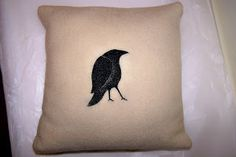 A small shop with pillows,wall hangings and framed art made from recycled woolen sweaters and blankets as well as nature-inspired linocut prints. White Raven, Linocut Prints, Wool Blanket, Framed Art, Pillows, Inspiration, Design, Fleece Blanket Edging, Bed Pillows