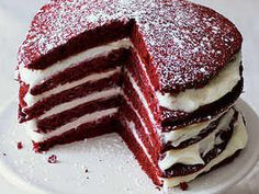 This recipe is our new favorite excuse to eat cake for breakfast (not that we needed one). The Loveless Café, Nashville's famous down-home spot for southern comfort food, is best known for their flakey stacked biscuits--but we absolutely love their festive layer cake-inspired pancakes just as much. Much like traditional red velvet cake, these cocoa pancakes are served with a delightful sweet and tangy cream cheese butter to cushion in between each flapjack.