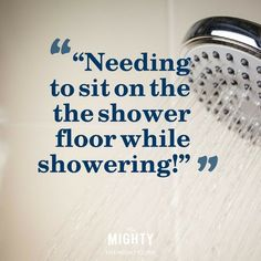 graphic of showerhead with quote on it
