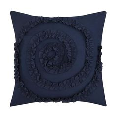 Shop Gracewood Hollow Maqqari Dark Blue 11-piece Bed in a Bag Comforter Set - On Sale - Overstock - 19972935 - Queen Ruffle Bed Skirts, Ruffle Bedding, Navy Comforter, Queen Comforter Sets, Bedding Sets, Bed In A Bag, Dust Ruffle, Dark Blue Color, Weekend Projects
