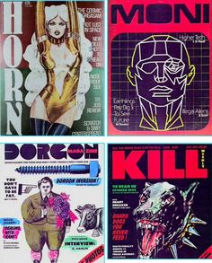 The magazines from Blade Runner.