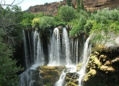 Sizir Waterfall near the town of Sivas in the  Cappadocia area of Turkey  (also called Goksu Falls)