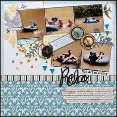 Today I am playing along with Color Story Inspiration's Case file I dug deep into . Teresa Collins, Page Layout, Layouts, Perfectly Imperfect, Color Stories, Art Of Living, Story Inspiration, Relax, Memories