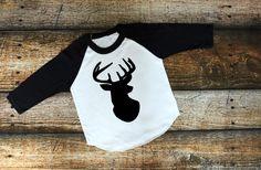 Deer, Sweet Deer, Little Deer, Antler, Birthday Shirt, American Apparel, Raglan, Boy, Girl, Baby, Unisex clothing by RagTine on Etsy