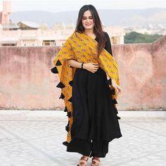 🌼🌸🌼Gorgeous Rayon Kurti With Palazzo Set With Dupatta🌸🌼🌸 Type: Stitched Fabric: Rayon Kurti, Rayon Palazzo and Cotton Dupatta love Pakistani Dresses, Indian Dresses, Indian Outfits, Western Dresses, Dress Indian Style, Indian Wear, Indian Designer Suits, Designer Kurtis, Designer Dresses