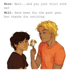 Pinning cause of Solangelo and clueless Nico