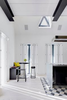 Skylights, Whitewashed Flooring Enlighten German Country House - http://freshome.com/german-country-house