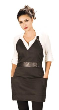 Esthetician Apron Black with Leather Belt Ladybird Line http://www.amazon.com/dp/B00IRUOD8A/ref=cm_sw_r_pi_dp_KPo.tb18NC3BW