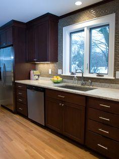 Kitchen Subway Tile Backsplash Glass Neutral colrs