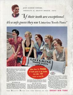 Chronically Vintage: Adventures in vintage advertising: brushing up on the history of toothpaste ads