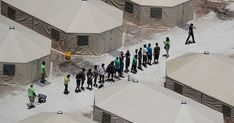 A new report from ProPublica Illinois sheds a harsh light on the conditions faced by migrant youth being held in federal custody and living in a horrific limbo as they wait to be released to a sponsor within the United States. Family Separation, Immigration And Customs Enforcement, Policy Change, Cnn Politics, Political News, Mike Pence, Human Services, Summer Art, Tent Camping