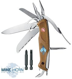 Mike Horn Knife : Wenger Swiss Army Knife, 16 functions, weight 252g  - recommended to those who require only the most essential tools in their arsenal.