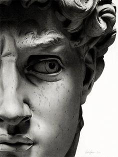 Michelangelo's David up close. Breathtaking!