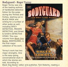 Roger Torrey's stories filled The pages of BLACK MASK Black Mask, S Stories, Hard Boiled, Detective, Crime, Fiction, Author, Writers, Crime Comics