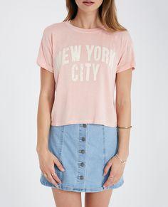 New York City Roll Sleeve Boxy Tee New York City Roll Sleeve Boxy Tee