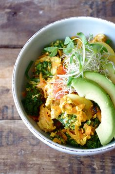 "The ""Zen"" Quinoa Bowl (gluten free & can be made vegan!) (Will use whole eggs)"
