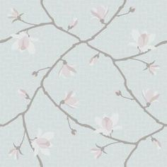 Magnolia by Boråstapeter - Pale Jade & Pink - Wallpaper : Wallpaper Direct Magnolia Wallpaper, Soft Wallpaper, Embossed Wallpaper, Retro Wallpaper, Geometric Wallpaper, Wallpaper Samples, Print Wallpaper, Geometric Background, Pattern Wallpaper