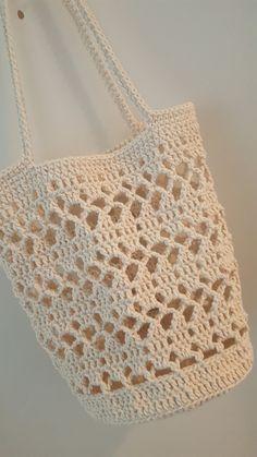 Marvelous Crochet A Shell Stitch Purse Bag Ideas. Wonderful Crochet A Shell Stitch Purse Bag Ideas. Crochet Market Bag, Crochet Tote, Crochet Handbags, Crochet Purses, Crochet Crafts, Knit Crochet, Crochet Stitches, Crochet Summer, Crochet Projects