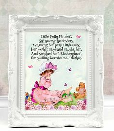 Nursery Wall Art Kids Room Decor Baby Christening Gift Baptism Rhymes C 71