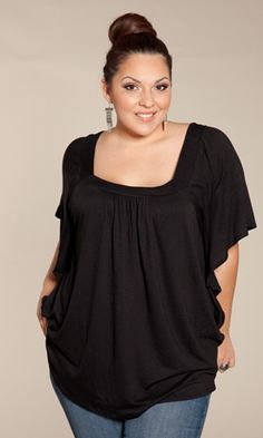 """Plus Size Top Plus Size Fashion at www.curvaliciousclothes.com Sizes 1X-5X The perfect top to """"throw on and go"""" as the weather heats up. Pair it with jeans or our California Maxi Skirt for a classic boho-inspired look."""
