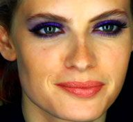 Purple, maybe with nude lips
