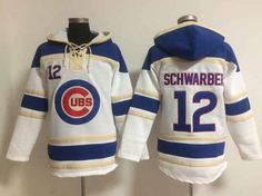MLB Chicago Cubs #12 SCHWARBER White (Team Hoodie) Jersey