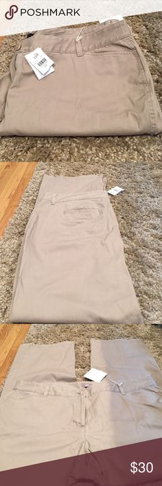 """J. Jill Brand New Chinos Still has tags. They are stretch chinos . Length is 42""""  inseam is 32"""" rise is 10""""  leg opening is 10.5"""" J. Jill Pants Straight Leg"""