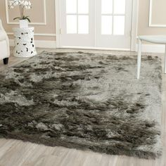 Paris Shag Titanium (Silver) 5 ft. x 8 ft. Area Rug